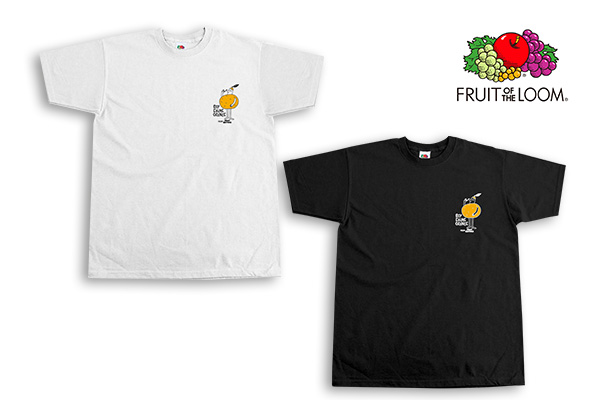 FRUITS  OF  THE  LOOM×COSMO DARTS T-Shirt 【 ROY EHIME ORANGE 】